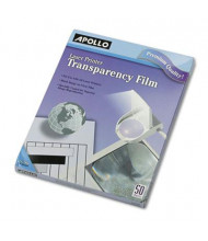 "Apollo 8-1/2"" x 11"", 50-Sheets, Laser Printer Transparency Film"