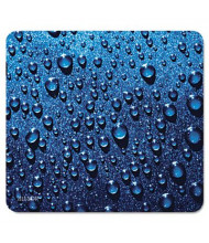 "Allsop Naturesmart 8-3/5"" x 8"" Mouse Pad, Raindrops Design"