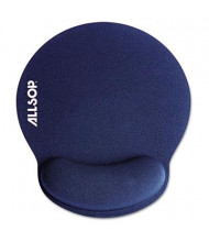 "Allsop MousePad Pro 7-1/4"" x 8-1/4"" Memory Foam Mouse Pad with Wrist Rest, Blue"