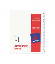 Avery 101-125 Allstate 25-Tab Legal Exhibit Side Tab Dividers, White, Pack of 25