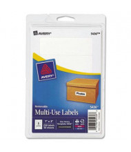 "Avery 3"" x 1"" Removable Multi-Use Labels, White, 250/Pack"