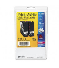 """Avery 3"""" x 1-1/2"""" Removable Multi-Use Labels, White, 150/Pack"""