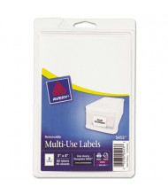 """Avery 4"""" x 3"""" Removable Multi-Use Labels, White, 80/Pack"""