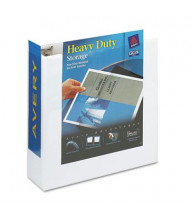 """Avery 3"""" Capacity 8-1/2"""" x 11"""" Slant Ring One Touch View Binder, White"""
