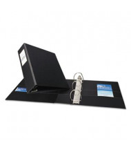 """Avery 3"""" Capacity 8-1/2"""" x 11"""" EZD Ring with Label Holder Non-View Binder, Black"""