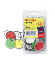 "Avery 1-1/4"" Diameter Metal Rim Key Tags, Assorted, 50/Pack"