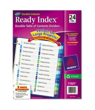 Avery Ready Index Letter 24-Tab Two-Column Numbered Table of Contents Divider, Assorted, 1 Set