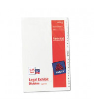 Avery 1-25 Preprinted 26-Tab Legal Dividers, White, 1 Set