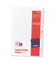 Avery A-Z Preprinted 26-Tab Legal Dividers, White, 1 Set