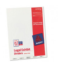 Avery Exhibit A-Z Preprinted 26-Tab Letter Dividers, White, 1 Set