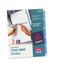 Avery Blue 5-Tab Letter Index Maker Dividers, White, 5 Set
