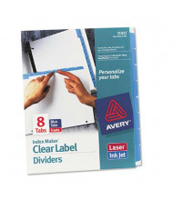 Avery Blue 8-Tab Letter Index Maker Dividers, White, 5 Sets