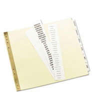 "Avery Gold Line 9-1/2"" x 11"" 6-Tab Insertable Data Binder Tab Index, Buff, 1 Set"