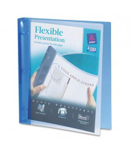"Avery 1"" Capacity 8-1/2"" x 11"" Round Ring Flexible Presentation Binder, Blue"