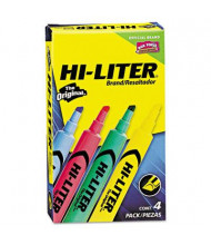 Hi-Liter Chisel Tip Desk Highlighter, Assorted, 4-Pack