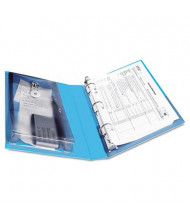 """Avery 1"""" Capacity 5-1/2"""" x 8-1/2"""" Round Ring Protect & Store View Binder, Blue"""