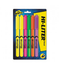 Hi-Liter Chisel Tip Highlighter Pen, Assorted, 6-Pack