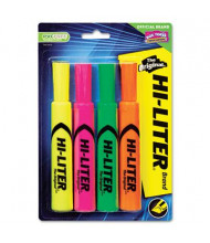 Hi-Liter Chisel Tip Desk Highlighter, Assorted Fluorescent, 4-Pack
