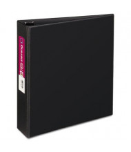 "Avery 2"" Capacity 8-1/2"" x 11"" Slant Ring Durable Non-View Binder, Black"