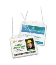 """Avery 4"""" x 3"""" Horizontal Secure Top Hanging-Style Badge Holders, Clear, 100/Box"""