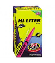Hi-Liter Chisel Tip Highlighter Pen, Pink & Yellow, 24-Pack