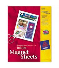 "Avery 8-1/2"" X 11"", 5-Sheets, Printable Inkjet Magnet Paper"