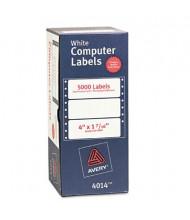"Avery 4"" x 1-7/16"" Dot Matrix Printer Mailing Labels, White, 5000/Box"