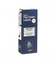 """Avery 3-1/2"""" x 7/16"""" Dot Matrix Printer File Folder Labels, White, 5000/Box"""