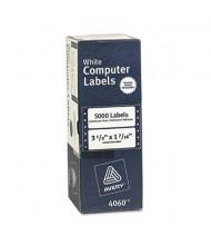 """Avery 3-1/2"""" x 1-7/16"""" Dot Matrix Printer Address Labels, White, 5000/Box"""
