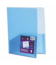 "Avery 8-1/2"" x 11"" Poly Two-Pocket Portfolio, Translucent Blue"