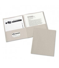 "Avery 30-Sheet 8-1/2"" x 11"" Embossed Two-Pocket Portfolio, Gray, 25/Box"