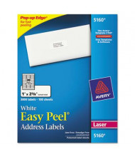 "Avery 2-5/8"" x 1"" Easy Peel Laser Address Labels, White, 3000/Box"