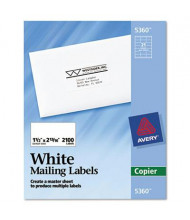"Avery 2-13/16"" x 1-1/2"" Copier Mailing Labels, White, 2100/Box"