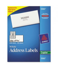 """Avery 2-13/16"""" x 1-3/8"""" Copier Mailing Labels, White, 2400/Box"""