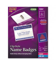 """Avery 3"""" x 4"""" Top Load Badge Holder Kit with Badge Insert, White, 40/Box"""