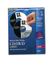 Avery Laser CD/DVD Labels, Matte White, 50/Pack