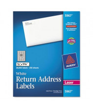 "Avery 1-3/4"" x 1/2"" Return Address Labels, White, 20000/Box"