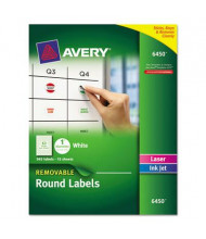 "Avery 1"" Round Removable Multi-Use Labels, White, 945/Pack"