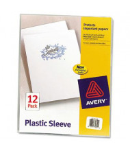 "Avery 8-1/2"" x 11"" Letter Clear Polypropylene Plastic Sleeves, 12-Pack"