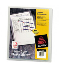 """Avery 8-1/2"""" x 11"""" Letter Clear Polypropylene Heavy-Duty Plastic Sleeves, 12-Pack"""
