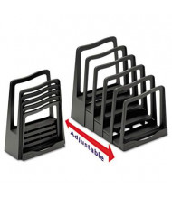 Avery 5-Section Adjustable File Rack, Black