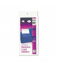 """Avery 3-1/2"""" x 2"""" Self-Adhesive Top-Load Business Card Holders, 10/Pack"""