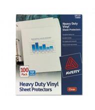 "Avery 8-1/2"" x 11"" Top-Load Heavy Gauge Clear Vinyl Sheet Protectors, 100/Box"