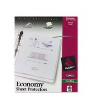 "Avery 8-1/2"" x 11"" Top-Load Semi-Clear Economy Poly Sheet Protectors, 100/Box"