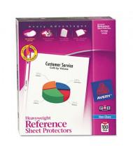 "Avery 8-1/2"" x 11"" Top-Load Non-Glare Poly Sheet Protectors, 100/Box"