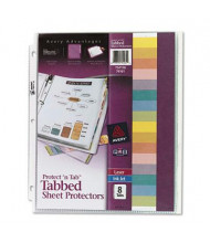 """Avery 8-1/2"""" x 11"""" 8-Tab Top-Load Clear Sheet Protector"""