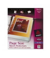 "Avery 8-1/2"" x 11"" Top-Load Non-Glare 3-Hole Poly Sheet Protectors, 50/Box"