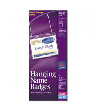 "Avery 4"" x 3"" Top Load Neck Hang Badge Holder with Insert, White, 50/Box"