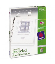 """Avery 8-1/2"""" x 11"""" Top-Load Recycled Clear Poly Sheet Protectors, 100/Pack"""