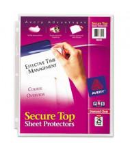 "Avery 8-1/2"" x 11"" Secure Top Heavy Gauge Sheet Protectors, 25/Pack"